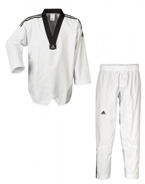 Adidas Taekwondoanzug, Adi Club 3 stripes, schwarzes Revers, ADITCB02