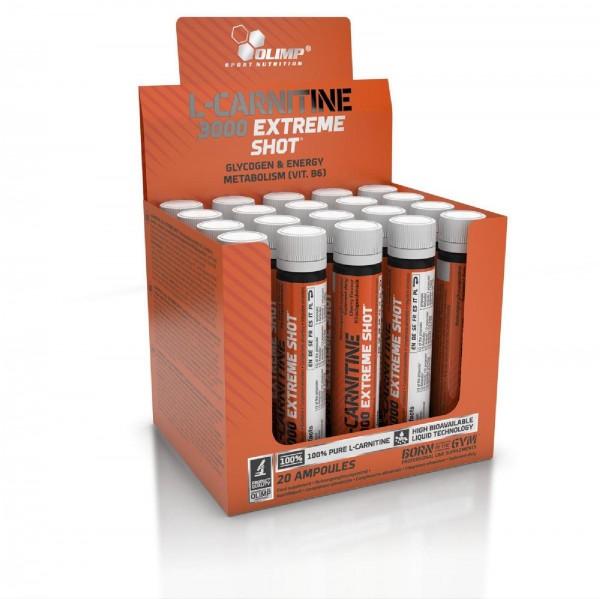 Olimp L-Carnitine 3000 Extreme Shots, 20 x 25 ml Ampullen