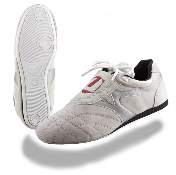 Taekwondo Schuhe Reza weiß/silber von JuSports/Wacoku
