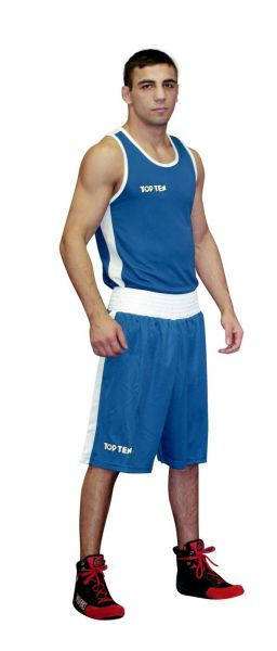 Boxing Shirt AIBA von Top Ten in Blau Frontansicht