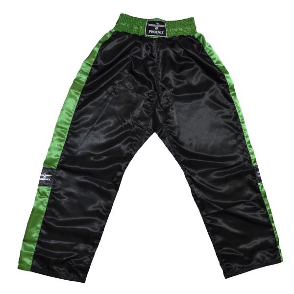 PHOENIX Kickboxhose TOPFIGHT, schwarz-grün Gr.120-200cm 4