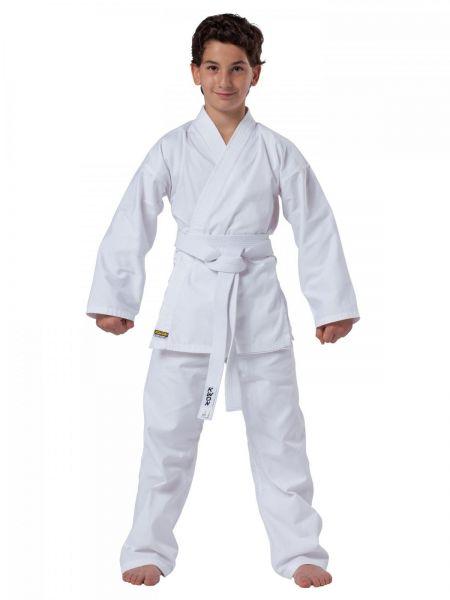 8oz KWON CLUBLINE Karateanzug für Kinder Seito Plus in weiß Frontansicht