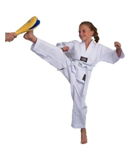 PHOENIX Basic Edition 7.5oz Taekwondo Anzug für Kinder mit weißem Revers