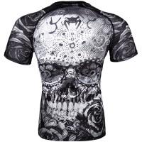"""VENUM Rashguard T-Shirt """"Santa Muerte 3.0"""" - Black/White - Shortsleeve"""