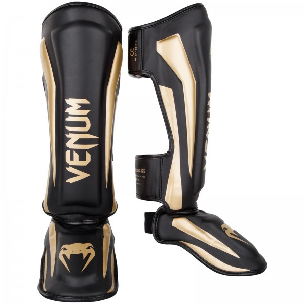 VENUM Elite Standup Shinguards Black/Gold Schienbeinschützer