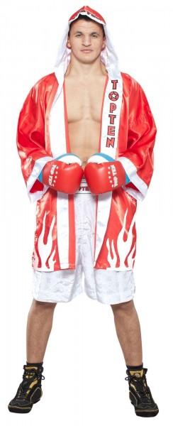 TOP TEN Mantel für Boxer Burnin Flames