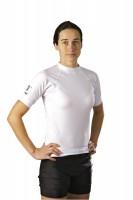 Ju-Sports Rash Guard kurzarm Under-Gi speziell für Damen weiß