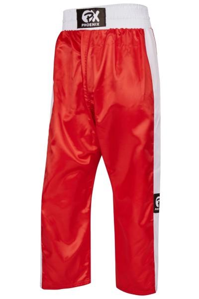 PHOENIX Kickboxhose TOPFIGHT, rot-weiß Gr. 120-200cm 1