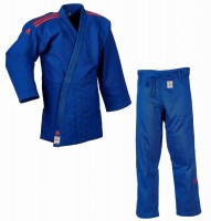 """adidas Judoanzug """"CHAMPION II"""" IJF, blau/rotes Logo, JIJF"""