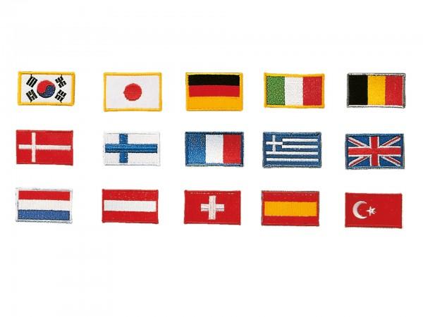 KWON Aufnäher Länder