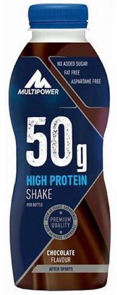 Multipower 50g High Protein Shake, 12 x 500 ml Flaschen