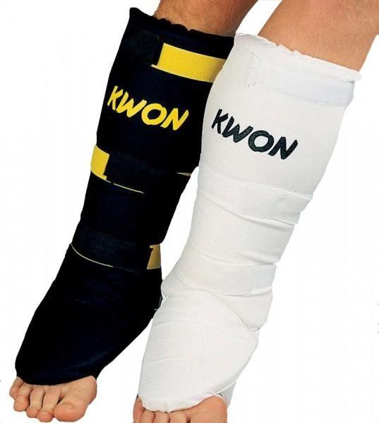 KWON Muay Thai Schienenbeinschoner Select in Schwarz und Weiß
