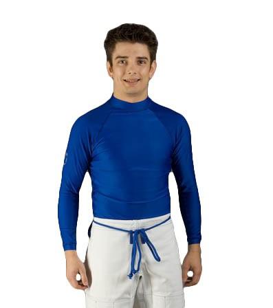 Ju-Sports Rash Guard blau langarm