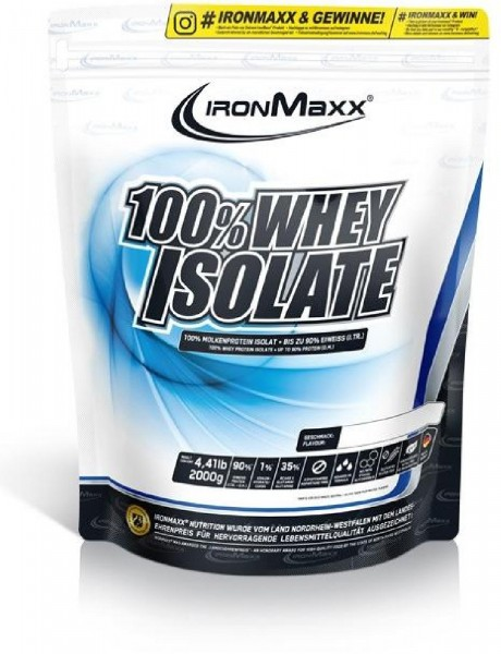 IronMaxx 100% Whey Isolate, 2000 g Beutel