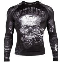"""VENUM Rashguard Shirt """"Santa Muerte 3.0"""" - Black/White - Longsleeve-Copy"""