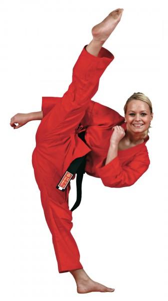 HAYASHI Kirin roter Karateanzug für Kinder (8oz)