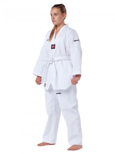 KWON Damen Taekwondo-Anzug Victory mit weißem Revers