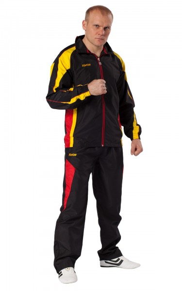 schwarz-rot-gelber KWON Trainingsanzug Performance Micro 1