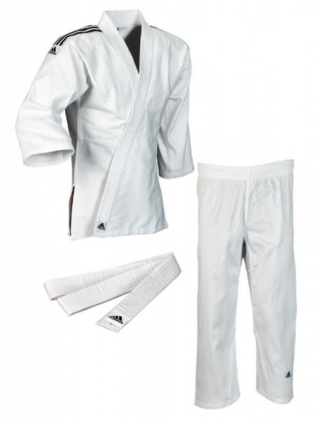 """adidas Judo-Anzug """"Club"""" weiß/schwarze Streifen, J350"""