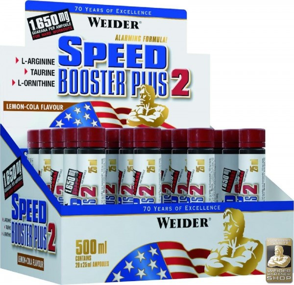 Joe Weider Speed Booster Plus 2, 20 x 25 ml Ampullen