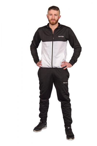 Trainingsanzug SlimFit von Top Ten in Schwarz-Weiß