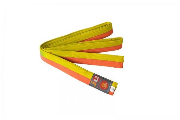 Ju-Sports Budogürtel gelb/orange (halb/halb)