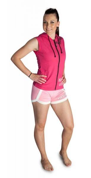 Ärmelloser Hoodie mit Reißverschluss von Top Ten in pink