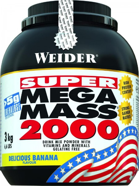 Joe Weider Mega Mass 2000, 3000 g Dose