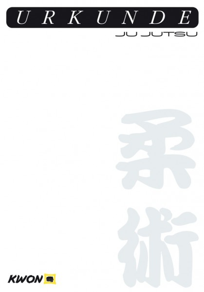 Ju Jutsu Urkunde von KWON