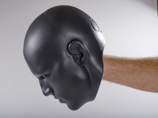 KWON Realistischer Head Mitt / Handpratze mit Griffmöglichkeit durch integrierten Haltegriff