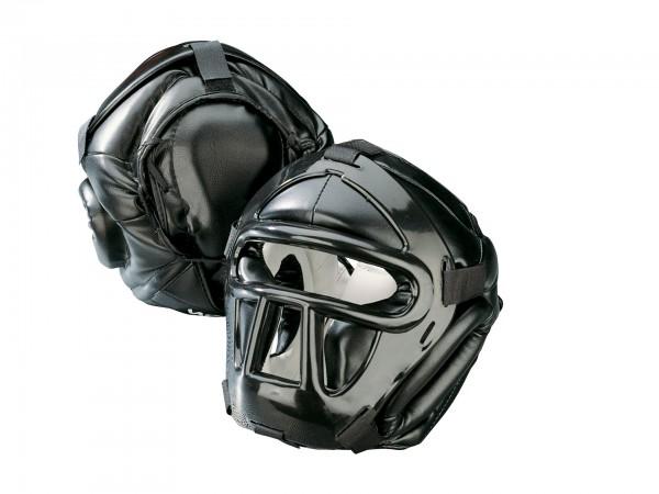 KWON Kopfschützer Black Line mit Schädeldeckenschutz CE schwarz