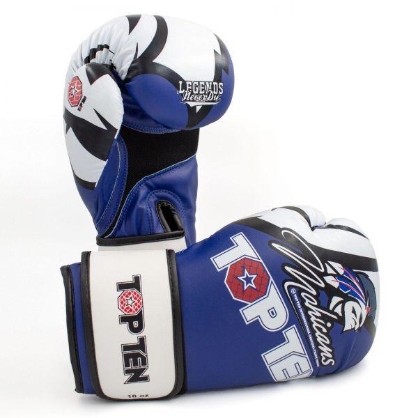 Boxhandschuhe Mohicans XLP von Top Ten WAKO approved in Blau-Weiß 1